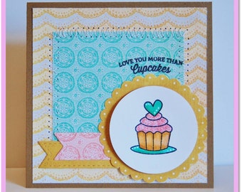 Love you more than cupcakes greeting card