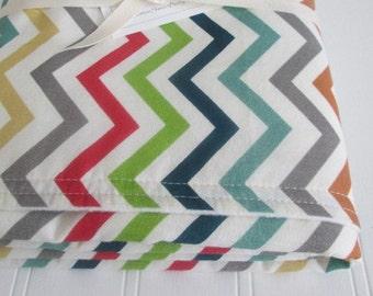 Organic Baby Blanket, SKINNY CHEVRON, Receiving Blanket, Organic Fleece, Just For Fun, 28 x 32 Inches, BIRCH Fabrics, Eco-Friendly Baby