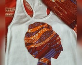African Clothing: Li Afro Tank, Crop TANK or AfroT And Head Wrap Set made from Dutch Wax