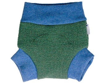 Wool diaper cover, wool soaker, wool pull on, wool for overnight, overnight wool cover, heavy wetter wool, wool shortie