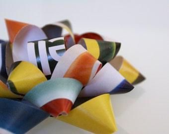 Paper gift bow, multicolor, magazine