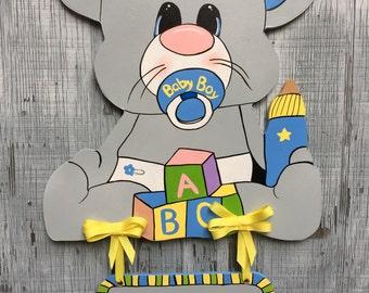 Baby Boy Hospital Door Hanger
