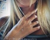 Baby Love Diamond Hand Chain, Diamond Bracelet, Diamond Slave Chain, Anniversary Gift, Wedding Gift