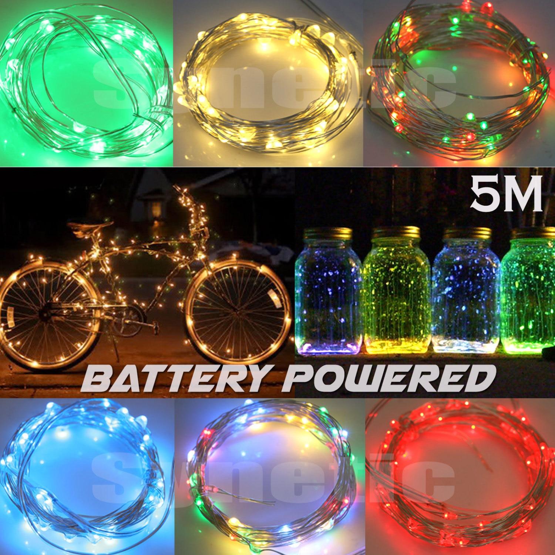 5M LED Fairy Light Strip Battery Bike Christmas Decorative DIY
