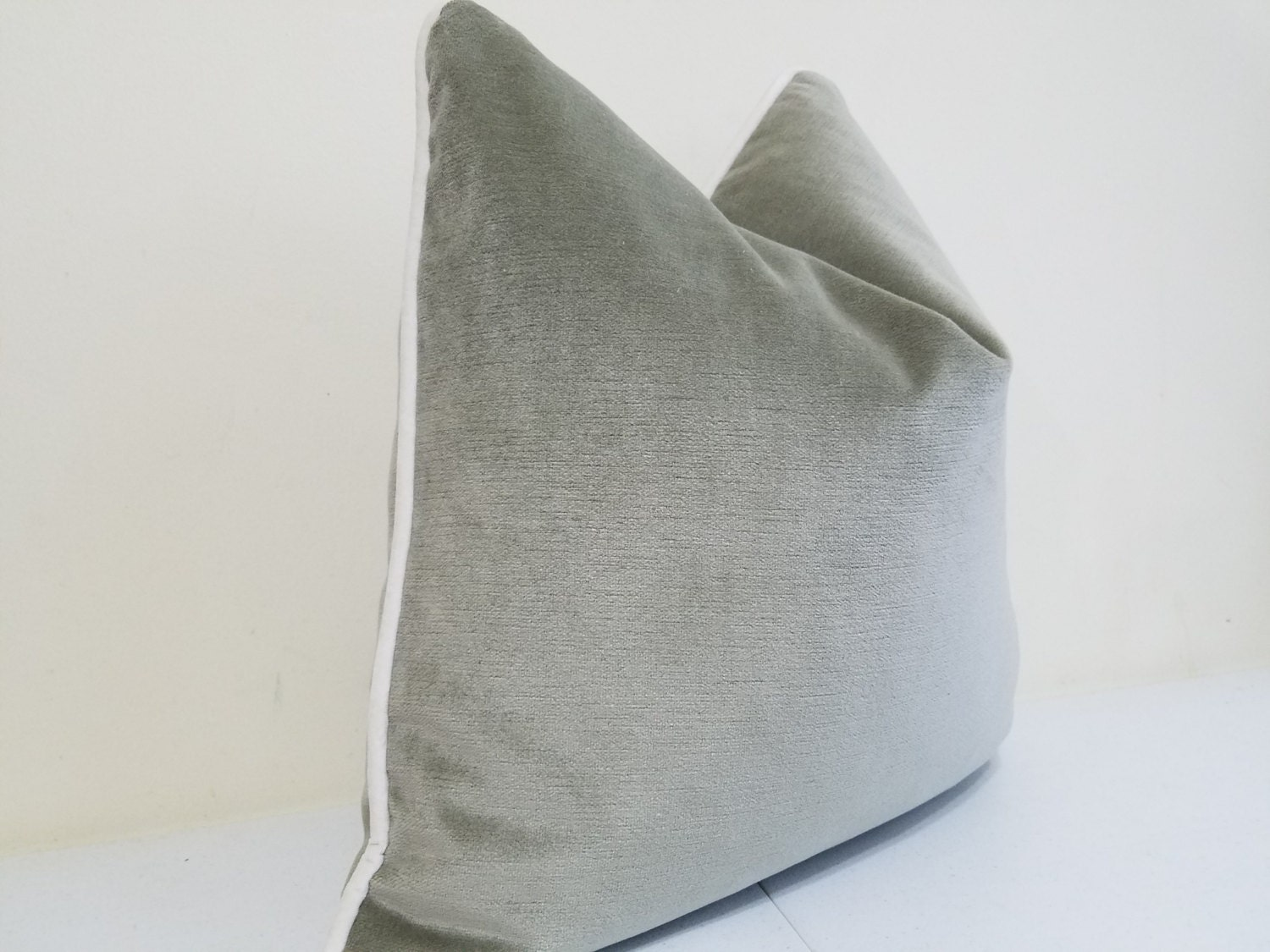 Sage Green Velvet Pillow Cover Robert Allen Velvet