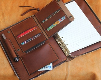 new for Christmas 2016/A5 Leather Journal Diary Notebook / notepad/brown vegetable tanned leather