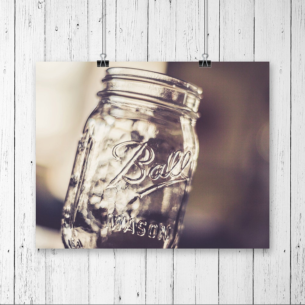 Mason jar decor kitchen wall art canning jar vintage prints for Kitchen wall prints