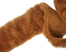 SALE Day 1 Yard Brown Faux Fur Trims Ribbons for Crafts