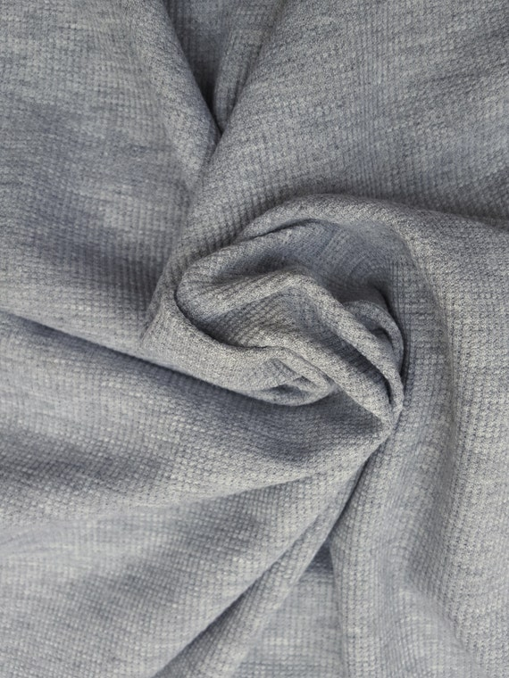 Thermal Cotton Spandex Knit Fabric By Yard Waffle Weave By