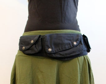 Utility bag Hip Bag - Pockets - Belt Bag - Festival Bag - funny pack - waist bag - cotton