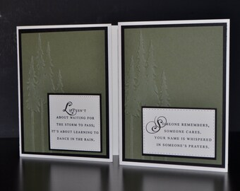 Encouragement Card Set (2), Thinking of You Card Set, Handmade Cards