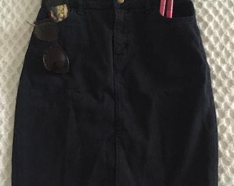 AA dark denim high waisted skirt