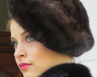 Vintage J. P. Allen Mink Fur Tam Beret Hat