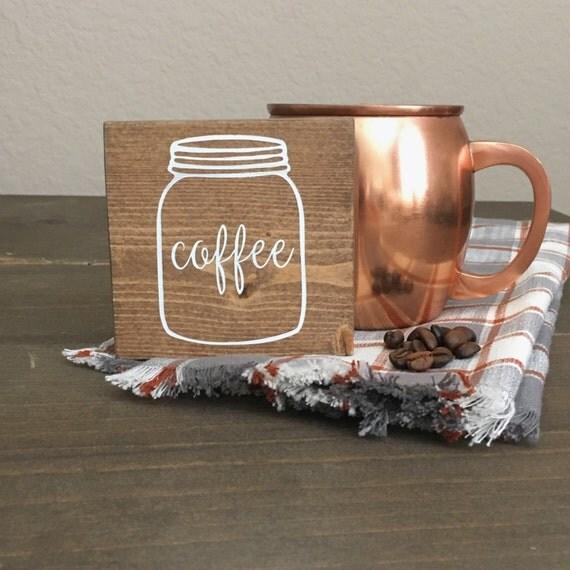 Coffee Decor For Kitchen: Coffee Mini Wood Sign Coffee Bar Wood Sign Kitchen Decor