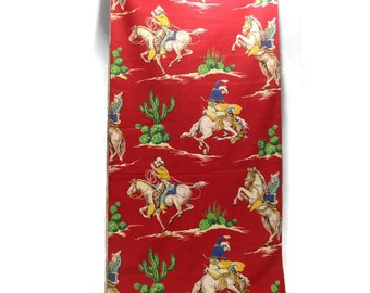 Cotton Fabric * Cowboy Bucking Bronco Horse * Upholstery Weight Yardage