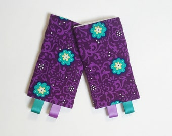 Drool Pads - teal purple - lillebaby Beco Ergo Bjorn Boba and MORE