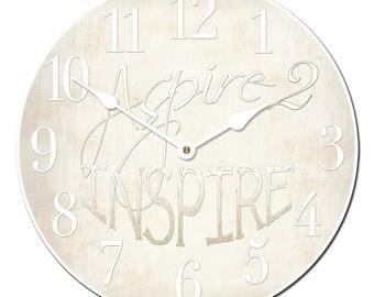 Aspire 2 Inspire White Wall Clock