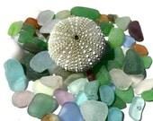 Genuine SeaGlass, beach glass, Altar, Craft quality, Depression Glass, Antique, Collectible, Handful, Terrarium Kit Accents, Zen, UV GLOW!