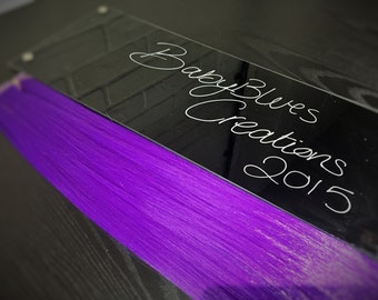 Purple Clip in Synthetic Hair Extensions