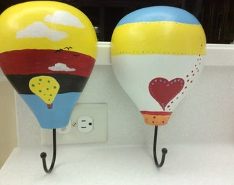 Set of Two - Hot Air Balloon Hooks.
