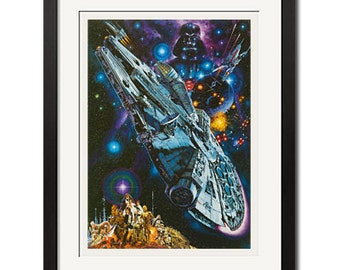 Star Wars Episode IV A new Hope x Noriyoshi Ohrai Japanese Sci-Fi Poster Print