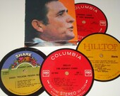 JOHNNY CASH Coasters vinyl record music coasters