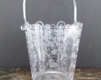 New Price Cambridge Martha Ice Bucket with Chantilly Etch and Chrome Handle