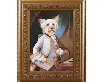 Dog Magnet, Yorkie Lad Mozart, Yorkshire Terrier, Refrigerator Magnet