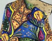 Bambillah--Australian Aboriginal Fabric--Australian Fabric by the HALF YARD--Aboriginal Design--Quilt Fabric--Cotton Fabric