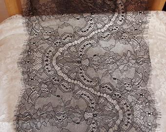 black chantilly lace trim, eyelash lace fabric