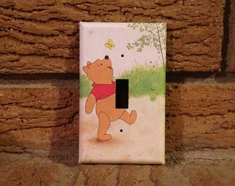 Winnie the Pooh Light Switch Cover, Winnie the Pooh Nursery, Winnie the Pooh Decor, Winnie the Pooh Decoration, Baby Shower Gift