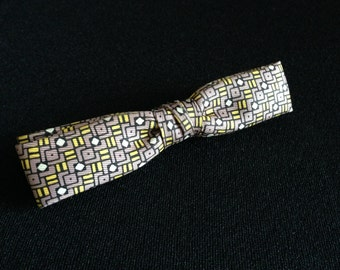 Vintage 1950's Ormond Clip-on Slim Geometrical Shape design Bow Tie (LDP1)