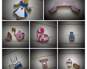 Collection of decorative buttons 'Wonderland'