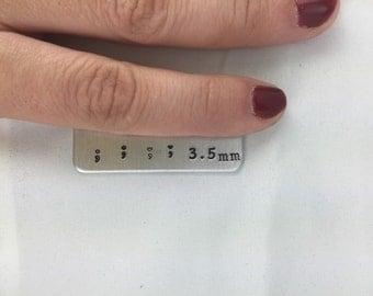 Semicolon Stamps 3.5mm