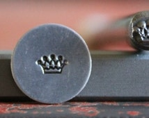 Crown Metal Stamp Perfect for Metal Stamping and Metal Jewelry Design Work  SGB-4