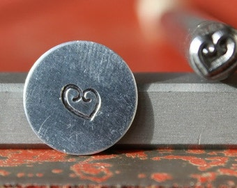 Swirl Heart Steel Stamp Perfect for Metal Stamping and Metal Work  SGK-1