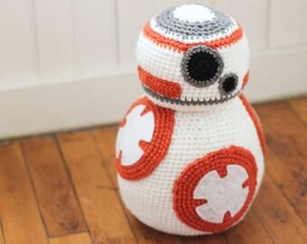 BB8 inspired Plush Toy/ Plush BB8/ BB8 Stuffed toy/ Stuffed BB8/ BB8/ Star Wars Plush toy/ Star Wars Gift/ Star Wars room decor