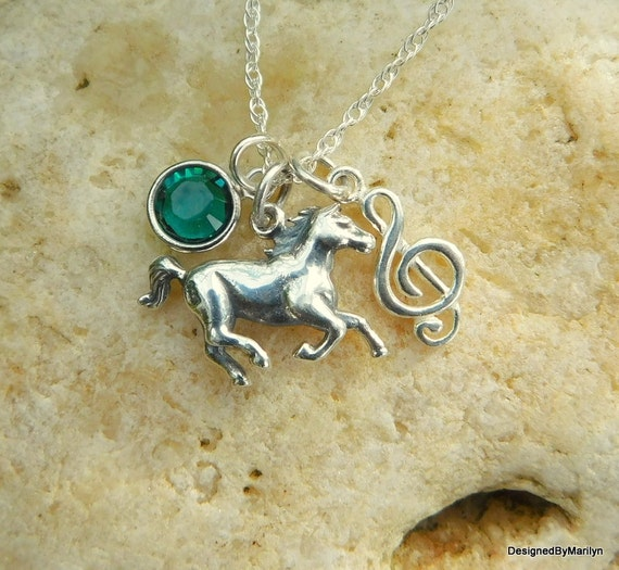 Sterling silver cowgirl jewelry, pony necklace,  country western music, western necklace, cowgirl up