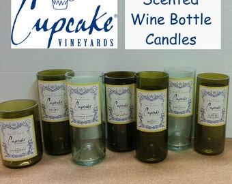 Wine Candle Cupcake Handmade Recycled Gift Choose Scent