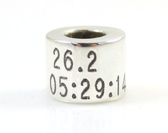 Custom Personalized Sterling Silver Running Bead