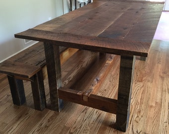 Elegant Reclaimed Wood Farm Table