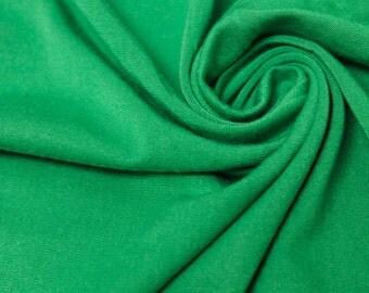 Kelly Green  Heavyweight Rayon Jersey Spandex Knit Fabric by the Yard - 1 Yard Style 406