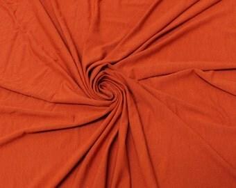 Brick Lt Rayon Jersey Stretch Knit Fabric by the Yard - 1 Yard Style 406