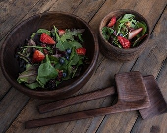 Wood Bowl, Traditional Wood Bowl, Wooden Salad Bowl, Fruit Bowl, Food Safe Wood Bowl, Rustic Bowl, Dining Bowl