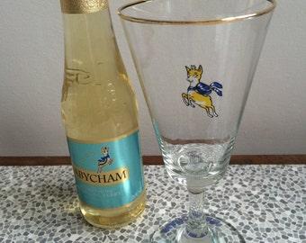Babycham fluted glass