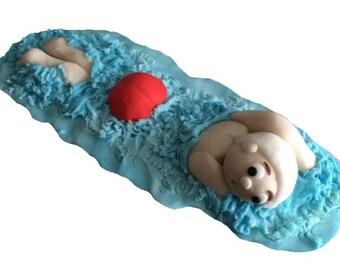 Edible Swimmer cake topper decoration