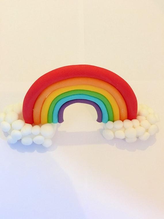 Edible rainbow cake topper