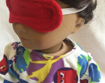 Doll Clothes - Pajamas with Sleeping Mask for the American Girl Doll - 18 Inch Doll PJ's - Inside Out - Disney