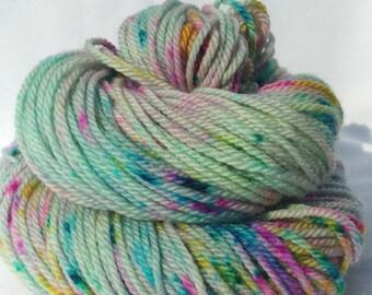 Splat Attack! OOAK - Hand Dyed Yarn - 100 grams / ≈180 yards