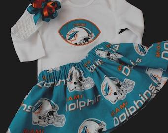 Miami Dolphins 3pc Girls Bodysuit set